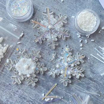 Fused Glass Kit - Snowflakes (iridescent)