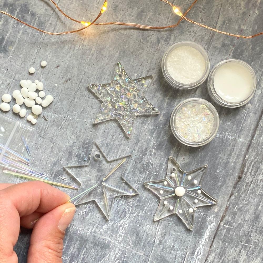 Fused Glass Kit - Stars (iridescent)