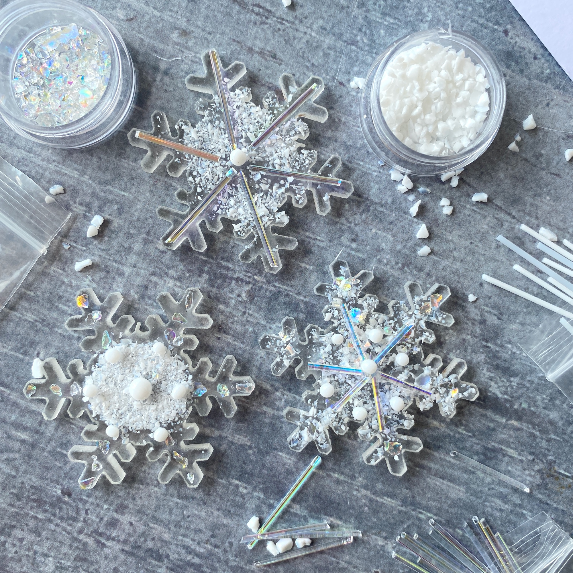 Make at home fused glass kit blue birds