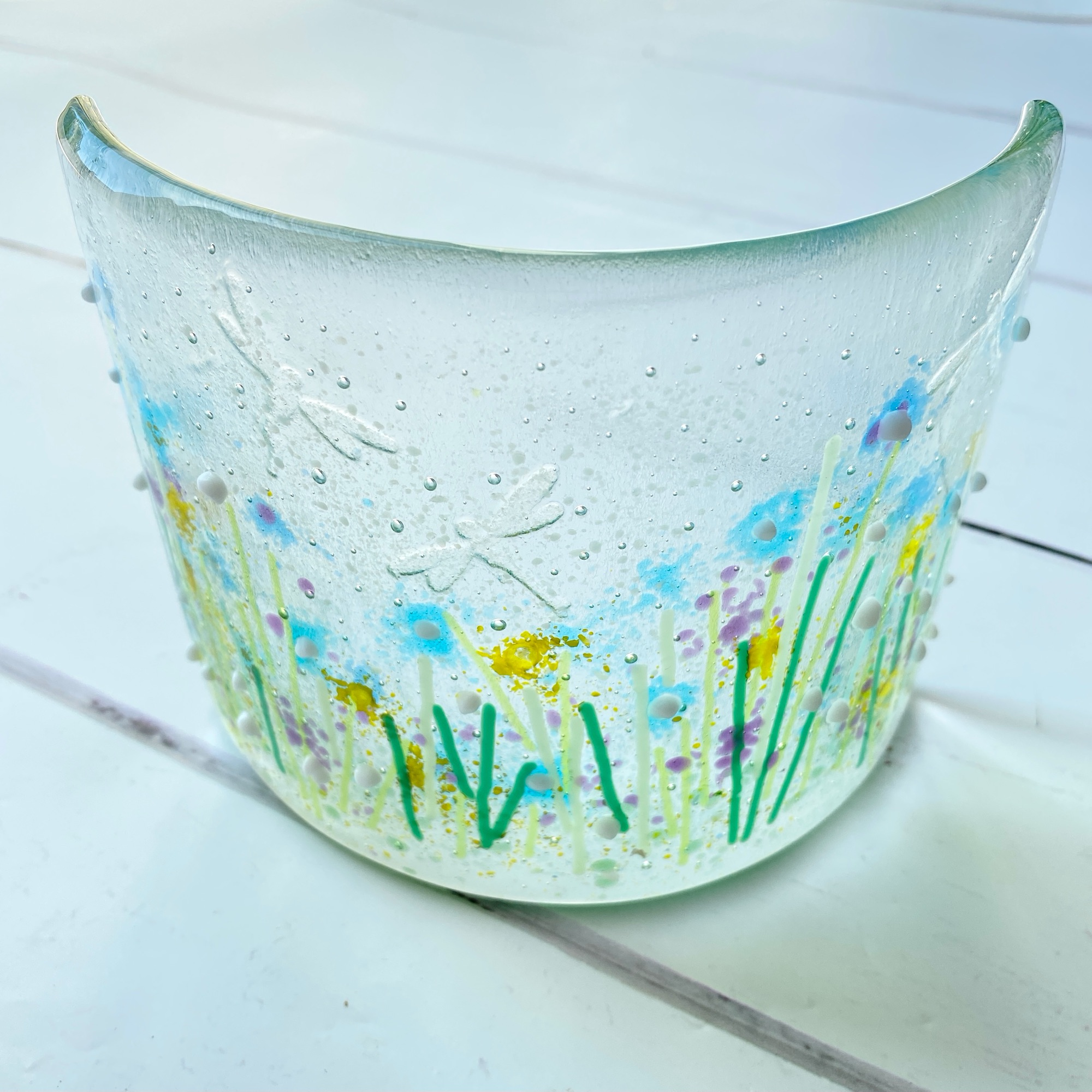 Make at home fused glass craft kit for adults  | Red Brick Glass by Wendy Jeavons