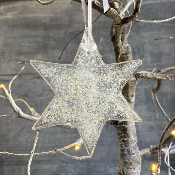 Fused glass star decoration - Large