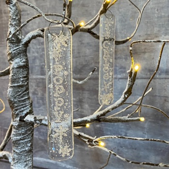 Personalised glass icicle