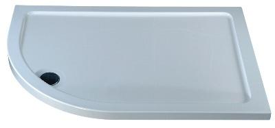 Ethos Offset Quadrant Slimline Left Hand Shower Tray 1200 x 900mm