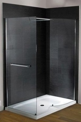 DLX 1400 x 800mm Walk In Front & Side Panel Shower enclosure