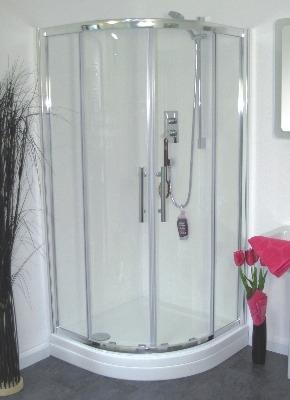 Serie Uno 1000 x 800 Twin Door Quadrant Enclosure