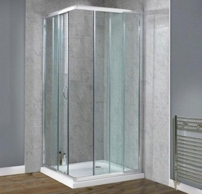 DLX 900mm Corner Entry Shower Enclosure