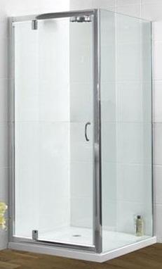 DLX 800mm Pivot Shower Door