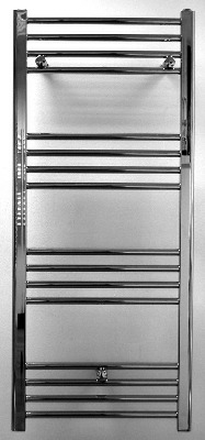 Towel Warmer 1200 x 500 Chrome Straight