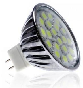 MR16 LED SMD - 320 Lumens - 20 x 5050 SMD Chips - 50 Watt Equivalent
