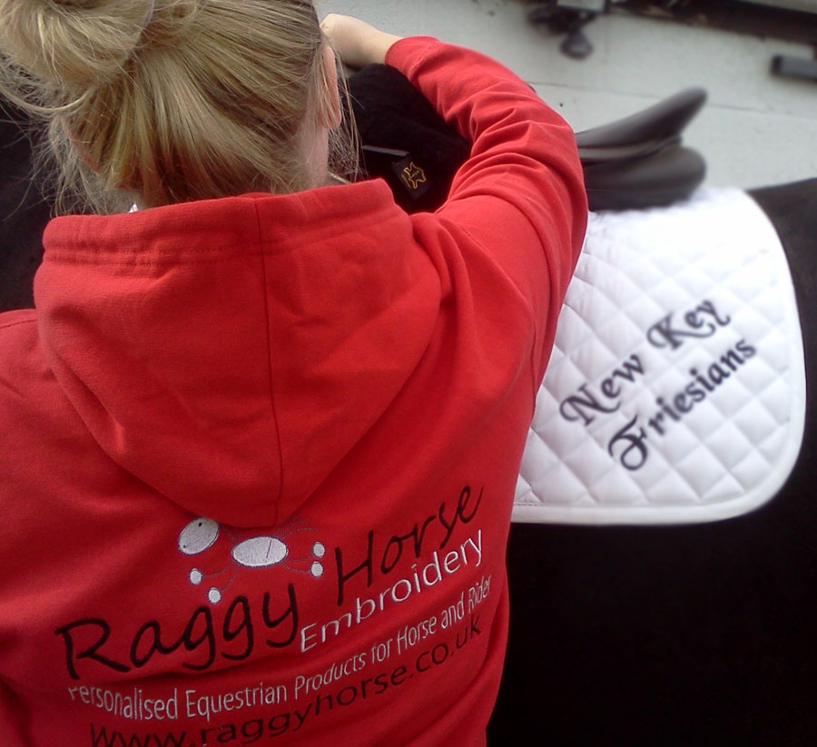 Adult Personalised Equestrian Hoodie inc embroidery. Now Available in 38 colours!