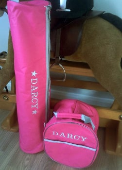 Personalised Embroidered Bridle Bag.  Four colours to choose from. £15.00 inc embroidery lettering