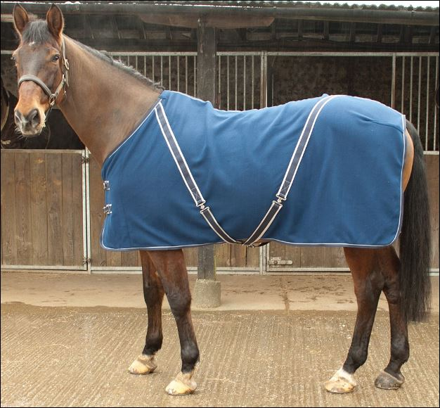 Personalised 'Comfey' Fleece Rug inc embroidery. Navy or Red