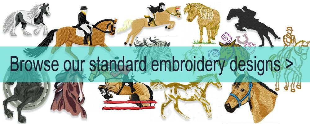 Raggy Horse Equestrian Embroidery Designs