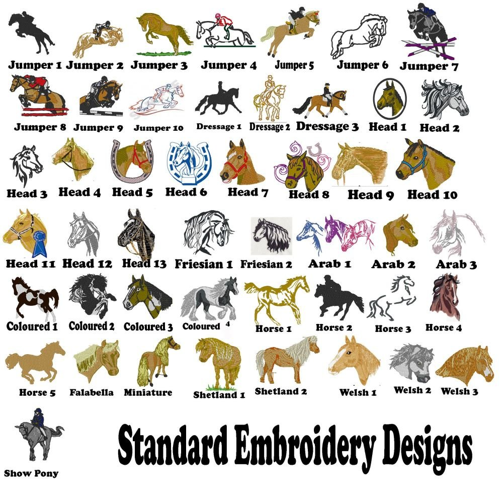 Standard Embroidery Designs