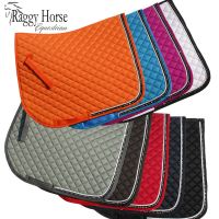 Personalised Elite Diamante Trim Saddle Cloth inc embroidery. 3 sizes  9 Colours.