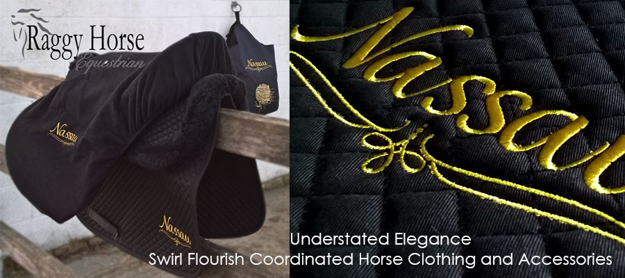 Elegant Swirl Personalised Horse Clothing and Accessories