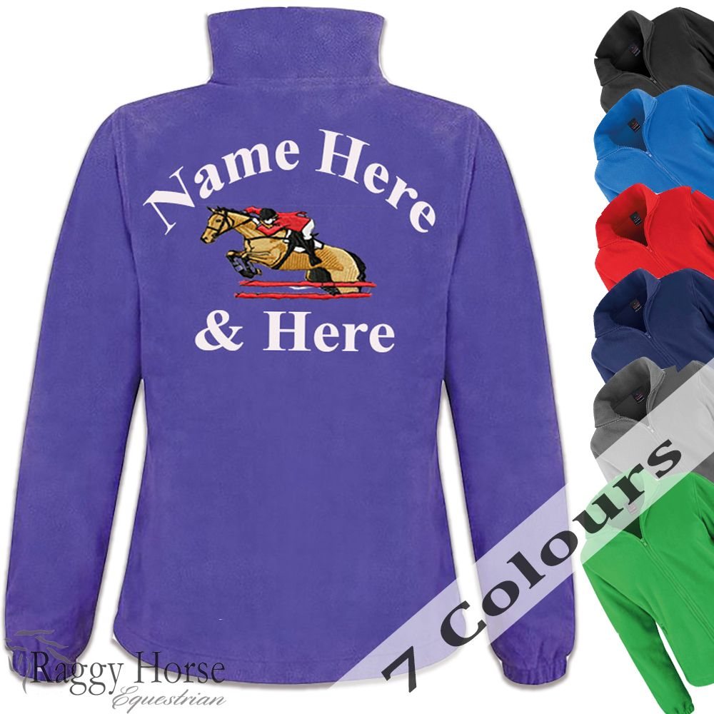 Personalised Lady-Fit Equestrian Fleece Jacket with choice of embroidery de