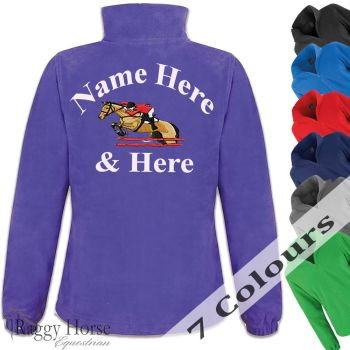 Personalised Womens Equestrian Fleece Jacket.
