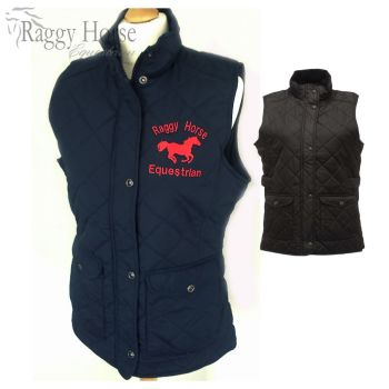 Regatta Personalised Ladies Equestrian 'Tarah' Quilted Bodywarmer inc embroidery