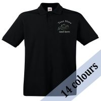<!--003-->Personalised Unisex Adult Polo Shirt inc embroidery