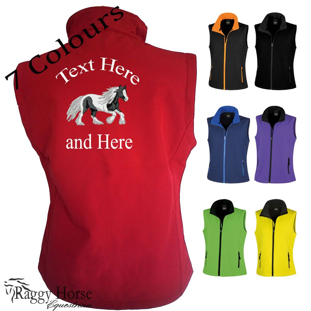 Result Core Personalised Embroidered Ladies Equestrian Softshell Gilet inc