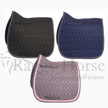 HySpeed Personalised Deluxe Saddle Pad with Rope Braid inc embroidery. 3 colourways.