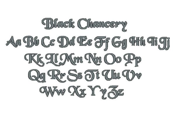 Black Chancery Lettering Style