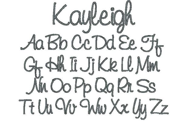 Kayleigh Embroidery Lettering Style
