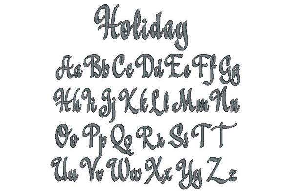 Holiday Embroidery Lettering Style
