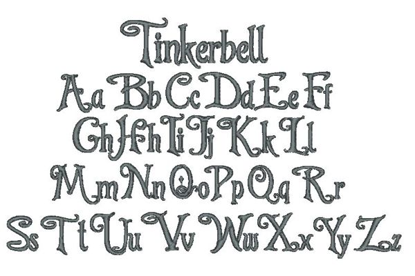 Tinkerbell Lettering Style
