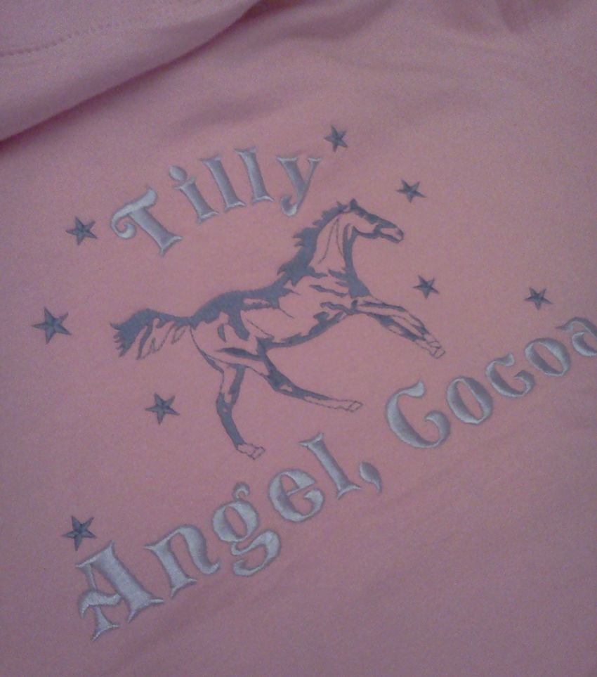 Hoodie back with Old English lettering and added stars
