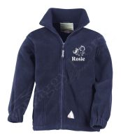 Children's  Full Zip Fleece inc embroidery to front. 3 colours