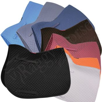 Personalised HyWither Competition GP Saddle Pad inc embroidery. 8 colours.