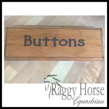 Solid Wood Carved Stable Door Name Plaque.
