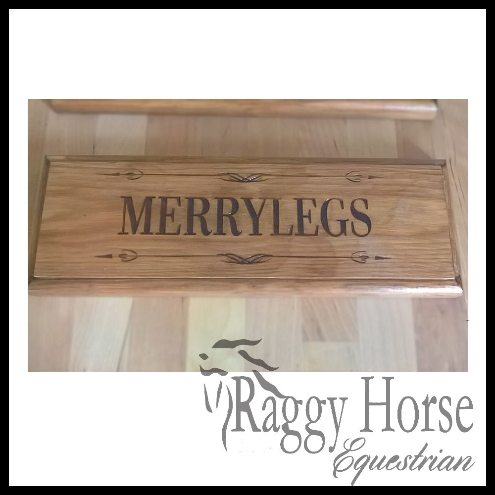 Swirl Wood Stable Door Name Plaque