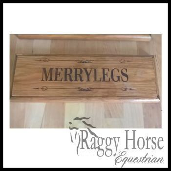 Swirl Solid Wood Stable Door Name Plaque.   For January 2021 dispatch