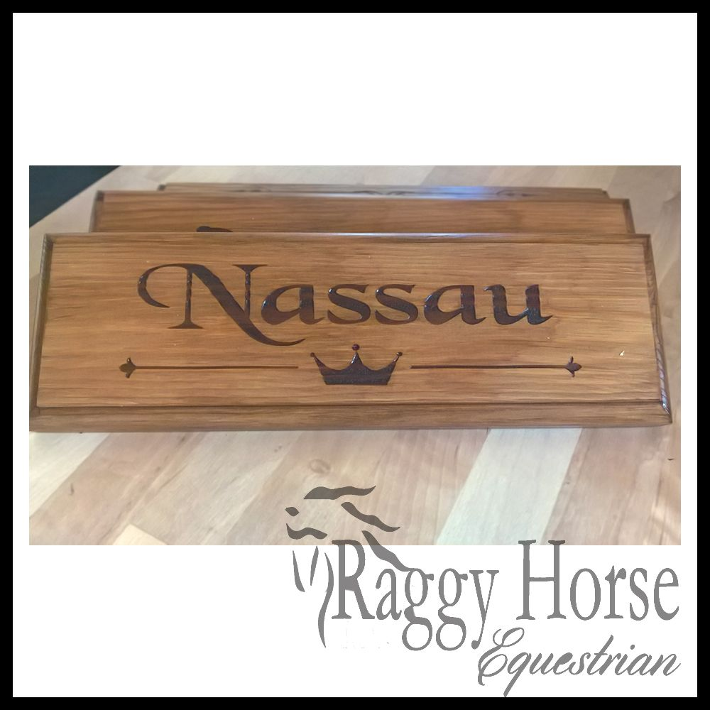 Crown Stable Door Name Plaque