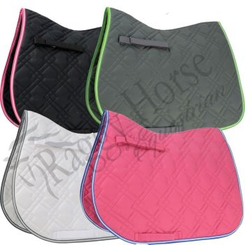 Hy Deluxe Pro Saddle Cloth inc embroidery.  4 colours