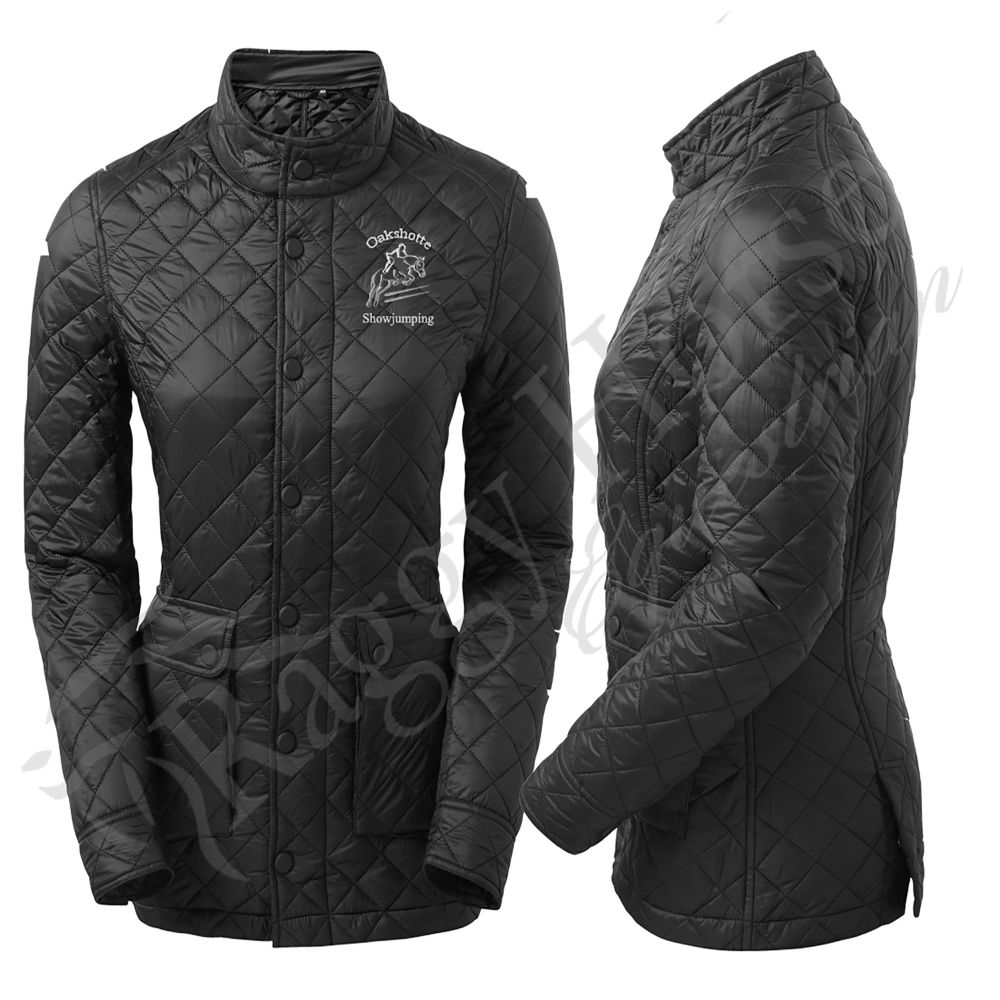2786 Women's Quartic Quilted Equestrian Jacket inc embroidery