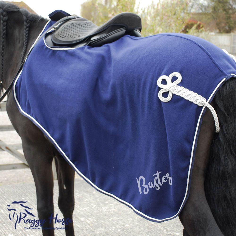 Rhinegold Fleece Ride-On Exercise Rug inc embroidery