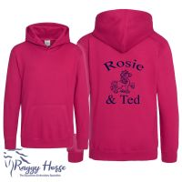 <!--001-->Kids Personalised Equestrian Hoodie inc embroidery.  15 colours.