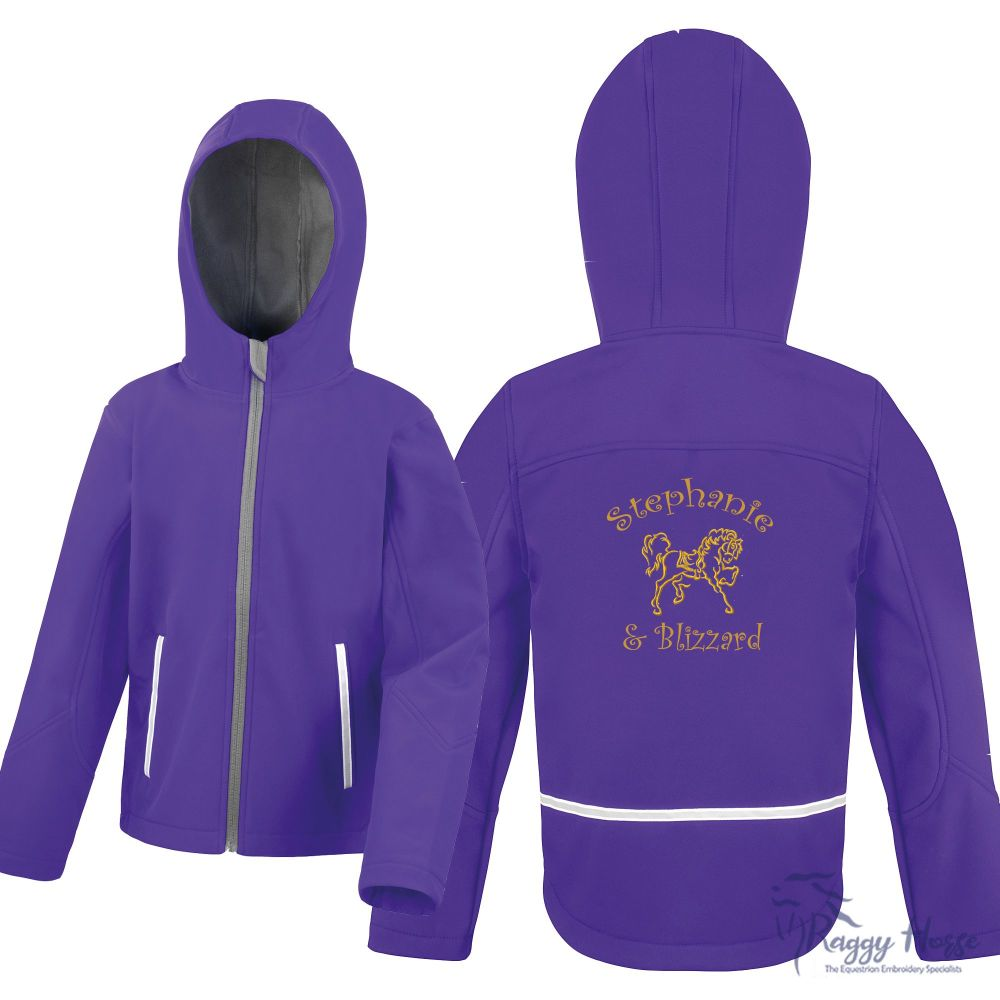 <!--002-->Result Core Hooded Personalised Junior Softshell Jacket inc embro