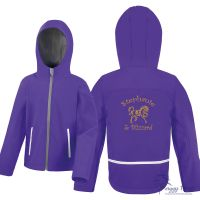 <!--002-->Result Core Hooded Personalised Junior Softshell Jacket inc embroidery