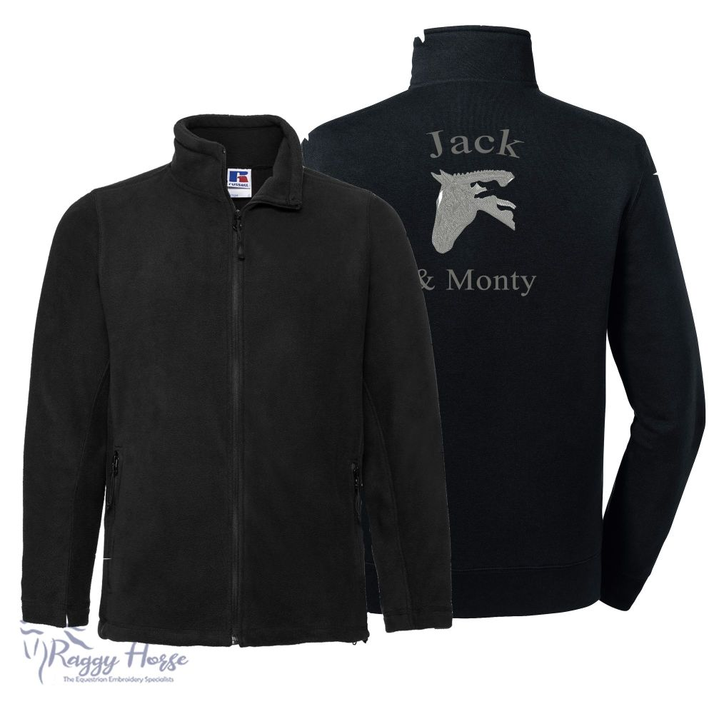 Russell Mens Equestrian Fleece Jacket inc embroidery