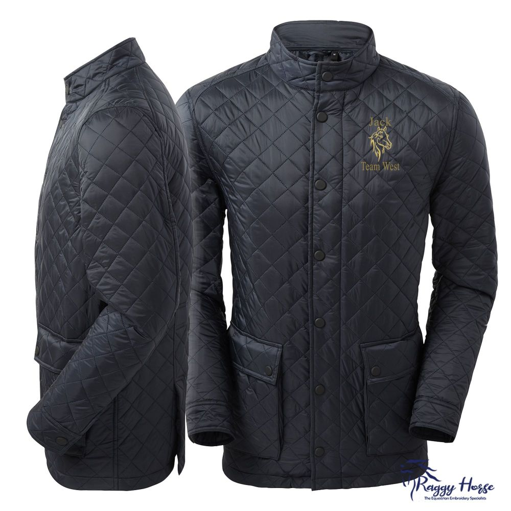 2786 Men's Quartic Quilted Equestrian Jacket inc embroidery