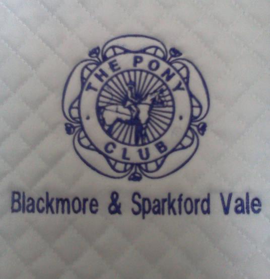 Saddle Cloth with Pony Club logo