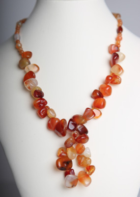 Erose Statement Drop Necklace - Red Agate