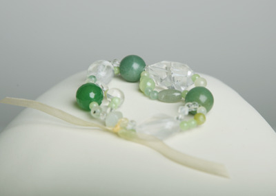 Simply Stunning Bracelet - Green Agate & Quartz Crystal