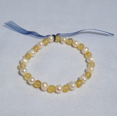 Unique Charity Single Freshwater Pearl Bracelet