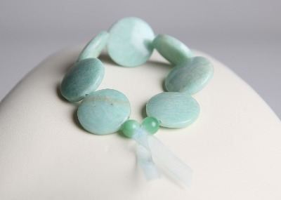 LouMae Loves Statement Bracelets - Clara - Brings Clarity with Dreamy Blue Amazonite